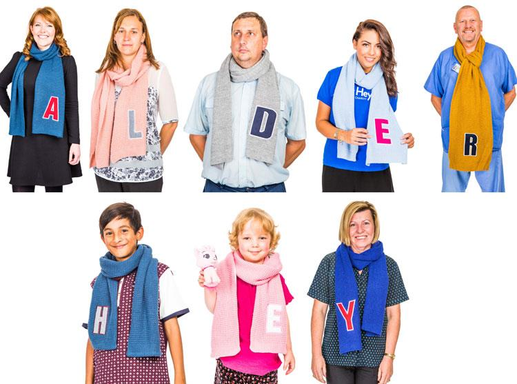 #AlphabetScarves project raises a huge amount
