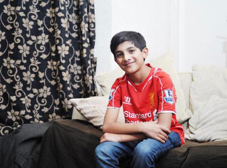 Huzaifah plays his part in Steven Gerrard's All Star Charity Match