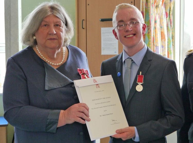 Young fundraiser Mark receives the highest possible honour