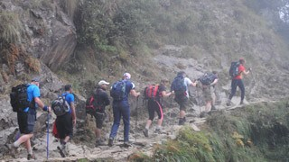 Trekking the foothills of the Himalayas
