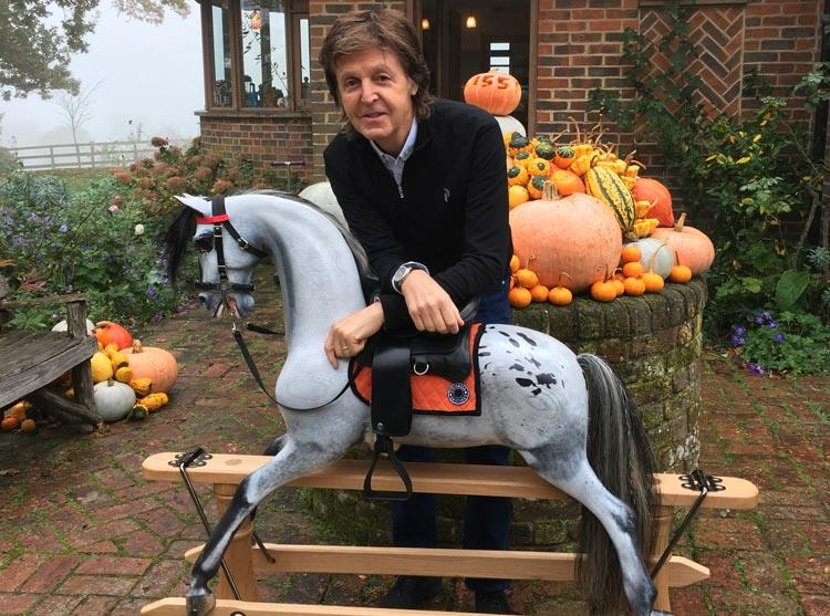Paul McCartney's signed rocking horse to be auctioned for Alder Hey