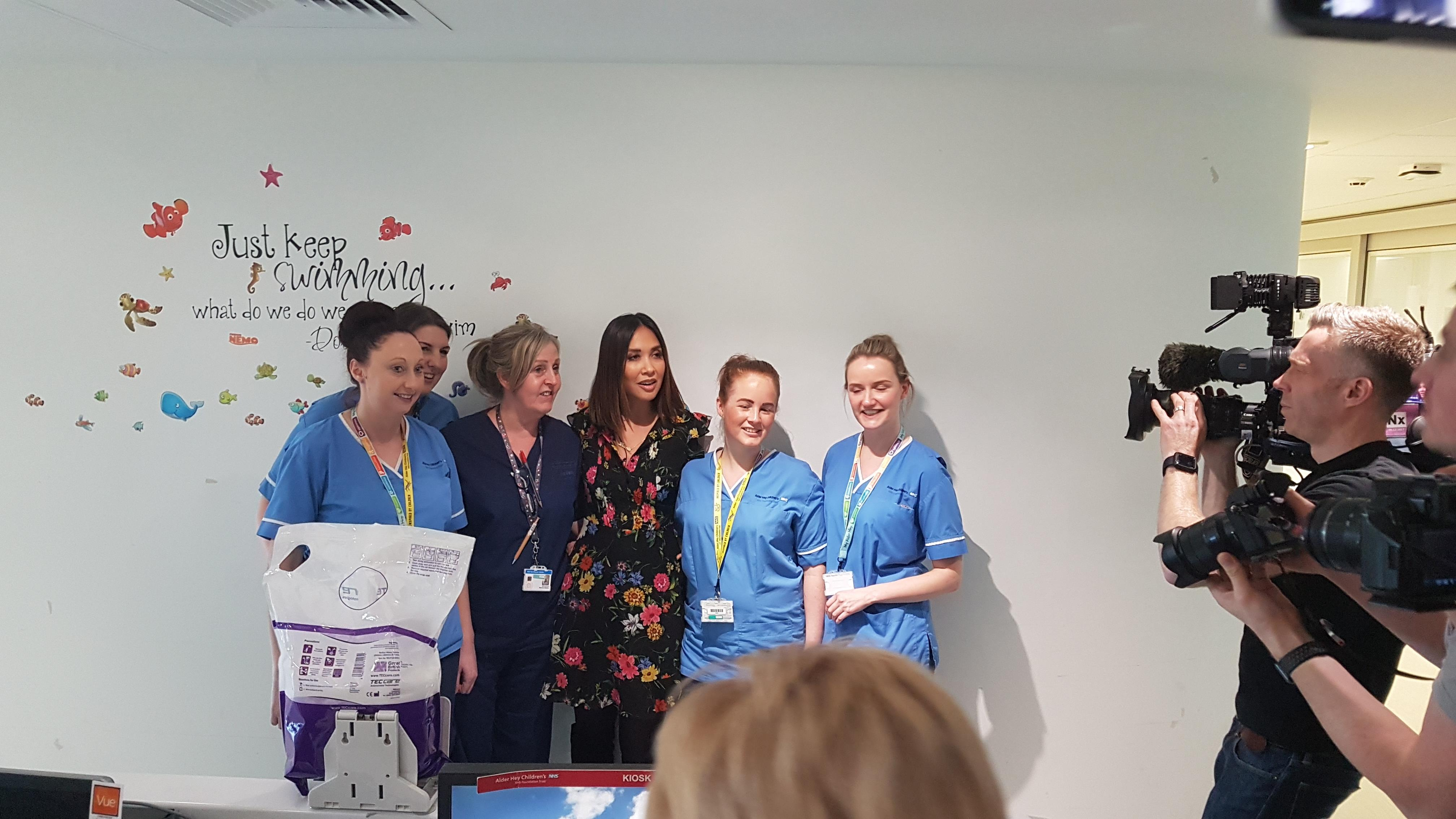 Myleene Klass' visit wasn't just Hear'say