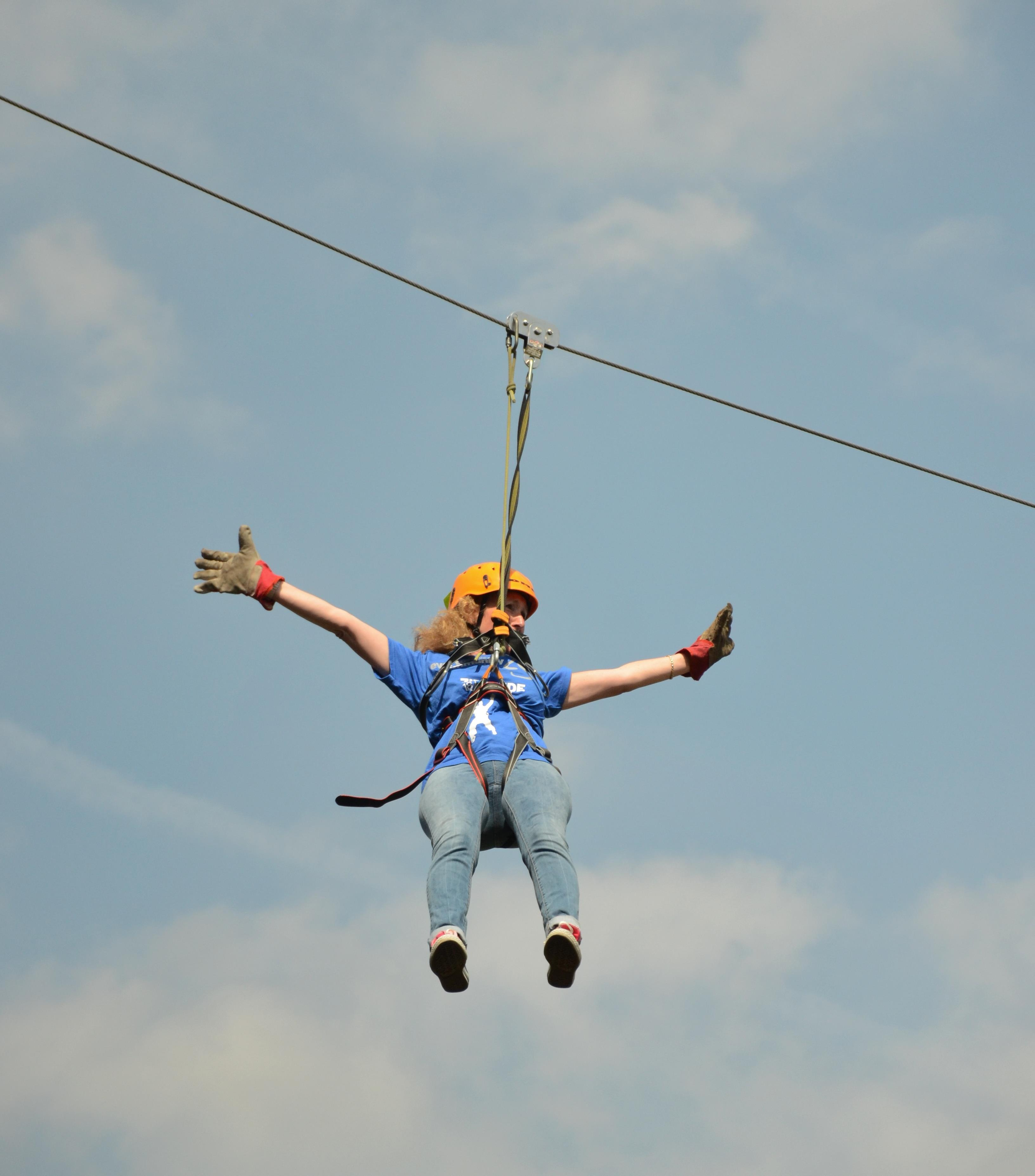 Zipping along raising money for Alder Hey