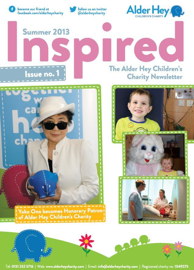 Issue 1 - Welcome to the Alder Hey Children's Charity Magazine