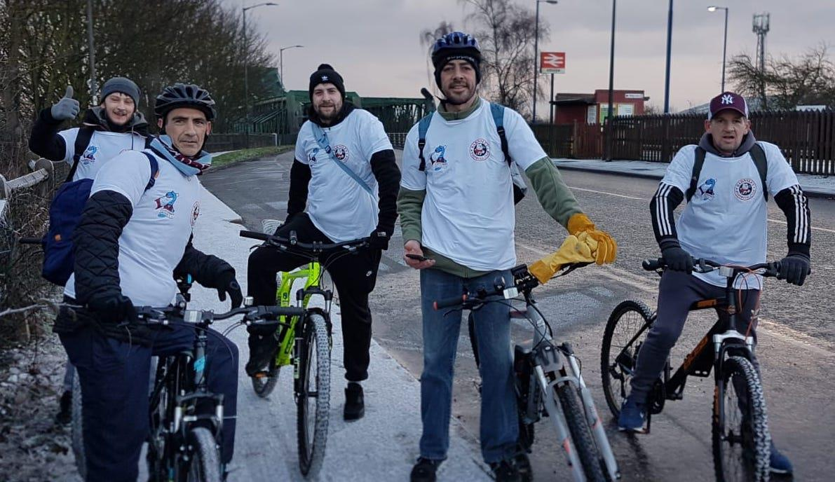 Quintet complete charity ride ahead of Barnsley clash